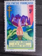 POLYNESIE 1971 P.A. Y&T N° 46 ** - MONUMENT A LA MEMOIRE DU GENERAL DE GAULLE - Frans-Polynesië
