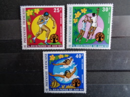 POLYNESIE 1975 P.A. Y&T N° 93 à 95 ** - 5e JEUX SPORTIFS DU PACIFIQUE SUD - Frans-Polynesië