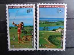 POLYNESIE 1974 Y&T N° 94 & 95 ** - SPORT GOLF D' ATTIMAONO - Ongebruikt