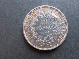 PIECE Argent 10 F Hercule 1967 - France