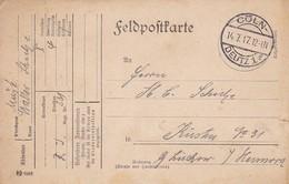 Feldpostkarte - Res. Inf. Rgt. 231 Nach Küsten -  Cöln Deutz 1917 (37382) - Cartas