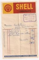 1950 FACTURE DU GRAND GARAGE CENTRAL PIERRE PIGENEL CONTREXEVILLE / PAPIER CARBURANTS SHELL   B435 - France