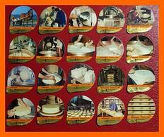 CCC - KRD N° 311  - Fabrication Du Fromage  - Série Complète En Aluminium - Milk Tops (Milk Lids)