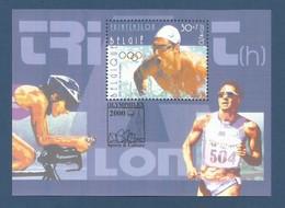 Belgien 2000  Mi.Nr.  Block 77 , Olympische Sommerspiele Sydney - Postfrisch / MNH / (**) - Ungebraucht