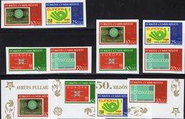 Imperf.CEPT-topics 2006 TK 3491/4ER+4ZD Aus Block 58 ** 45€ Stamps On Stamp M/s Blocs Bf Se-tenants 50 Years EUROPA - 1921-... República