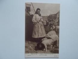Salon De 1905 - Catalane Au Marché D'Arreau Par P.M. DUPUY - Cochons