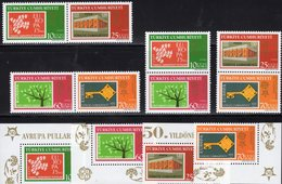 Perf.CEPT-topics 2006 TK 3495/8 ER+ 4ZD Aus Block 59 ** 30€ Stamps On Stamp M/s Blocs Bf Se-tenants 50 Years EUROPA - 1921-... República
