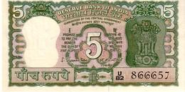 India P.56a 5  Rupees 1970 Unc - India