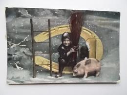 ZPOWINSZOWANIEM NOWEGO ROKU  /  OUDEPOSTZEGELS 1907 ÖSTERREICH - Cochons