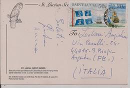 ST. LUCIA - 50c+20c -AFFRANCATURA PARTICOLARE -  ITALIA - St.Lucia (1979-...)