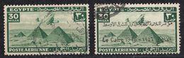 EGITTO - Posta Aerea, Lotto Di Due Valori Usati Yvert  28 E 28A. - Airmail