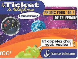 TICKET TELEPHONE-FRANCE- PU47-La GRENOUILLE-- Code /3/3/3/3---31/03/2003-TBE- - France