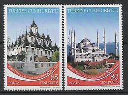 TURKEY 2008 Sc#3108-09 Diplomatic Relationship Turkey-Thailand Common Issue Complete Set MNH LUX - 1921-... Republik