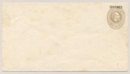 Nederlands Indië - 1888 - 15 Cent Willem III, Envelop G8 Met SPECIMEN-opdruk - Ongebruikt - Nederlands-Indië