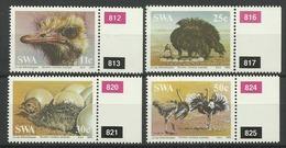 SWA  SOUTH WEST AFRICA 1985  OSTRICHES  SET  MNH - Struisvogels