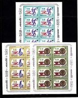 Soccer World Cup 1986 - RUSSIA - 3 Sheets De Luxe MNH - World Cup