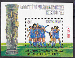 Soccer World Cup 1986 - HUNGARY - S/S Special MNH - World Cup