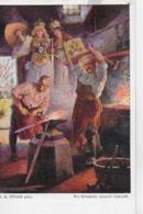 AK 0067  Höger , R. A. - Die Schmiede Unserer Zukunft / Künstlerkarte Um 1910-20 - Malerei & Gemälde