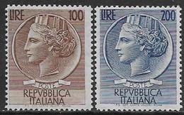 Italia Italy 1954 Turrita Grandi Ruota Sa N.747-748 Completa Nuova MH * - 6. 1946-.. Repubblica