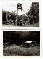 2 Cartes Photos - Roumont 1958 'Notre Installation Et Celle Des Ramiers' - Scouts - Scoutisme - 4 Scans - Scoutisme