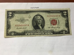 USA United States $2.00 Red Banknote  1953 #3 - National Currency