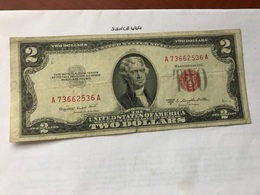 USA United States $2.00 Red Banknote  1953 #4 - National Currency