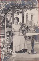 Romantiek Romance Couple Liefde Amour Love Carte Fantaisie Fantasiekaart Munich Frauenkirche Waaier Fan Éventail - Couples