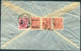 1948 China Shanghai Mixed Franking Provisional Overprint Airmail Cover - Amsterdam Netherlands - China