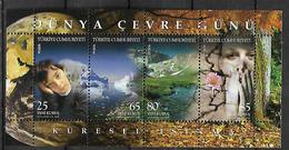 TURKEY 2008 Sc#3122 World Enviroment Day Souvenir Sheet  MNH LUX - 1921-... Republic