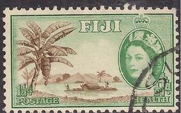 Fiji 1954  QE2 1 1/2d + 1/2d Health River Scene SG 296 ( J1223 ) - Fiji (...-1970)