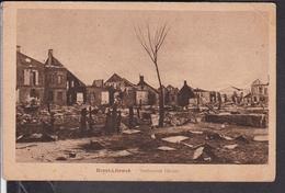 """Brest Litowsk  Verbrannte Häuser  Feldpost 1917 Stempel """" Eisenbahn Betriebskompagnie 51 """" - Belarus"""