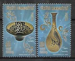 TURKEY 2008 Sc#3138-39 Glassware Couvenir Sheet  MNH LUX - 1921-... Republic