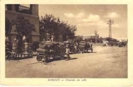 AFRIQUE - DJIBOUTI : Charrois De Café - CPA - - Djibouti