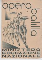 Pagella Epoca Fascista Gioventù Italiana Littorio Illustrato Futurista Opera Balilla 1936 Torino  F/p - Diplomi E Pagelle