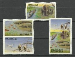 BOTSWANA  1991 TOURISM YEAR,ANIMALS,BIRDS  SET  MNH - Francobolli