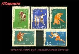 USADOS. COREA DEL NORTE. 1964 JUEGOS OLÍMPICOS EN TOKYO - Corea Del Norte