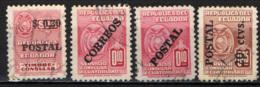 ECUADOR - 1951 - CAMPAGNA D'ALFABETIZZAZIONE - FRANCOBOLLI DI SERVIZIO CONSOLARE CON SOVRASTAMPA - OVERPRINTED - USATO - Ecuador