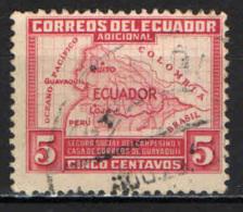ECUADOR - 1938 - MAPPA DELL'ECUADOR - USATO - Ecuador