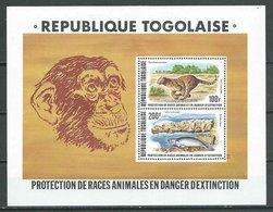 Togo Bloc-feuillet YT N°107 Protection De Races Animales En Voie D''extinction Neuf/charnière * - Togo (1960-...)
