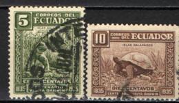 ECUADOR - 1936 - TARTARUGA DELLE GALAPAGOS - USATI - Ecuador