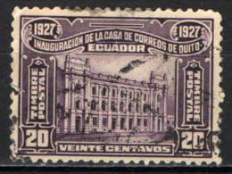ECUADOR - 1927 - PALAZZO DELLE POSTE A QUITO - USATO - Ecuador