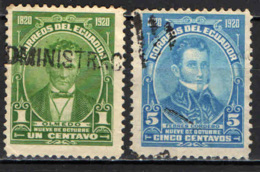ECUADOR - 1920 - PERSONALITA' DELL'ECUADOR - USATI - Ecuador