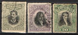 ECUADOR - 1899 - PERSONALITA' DELL'ECUADOR -  USATI - Ecuador