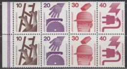 BRD  Heftchenblatt 23, Mit Strichelleiste, Postfrisch **, Unfallverhütung 1972 - BRD