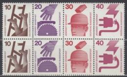 BRD  Heftchenblatt 23, Postfrisch **, Unfallverhütung 1972 - BRD