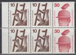 BRD  Heftchenblatt 21, Postfrisch **, Unfallverhütung 1972 - Blocchi