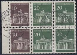 BRD  Heftchenblatt 18, Gestempelt, Brandenburger Tor, 1968 - Markenheftchen