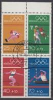 BRD  Heftchenblatt 22, Gestempelt, Olympiamarken 1972 - BRD