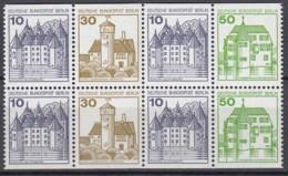 BERLIN  Heftchenblatt 19, Postfrisch **, Burgen Und Schlösser 1980 - Blocchi