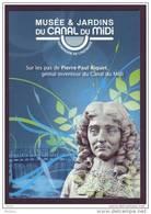 France, Musée Et Jardins Du Canal Du Midi, Pont, Sculpture, Pierre-Paul Riquet, Bridge, Museum, Garden, Perruque, Wig - Bridges